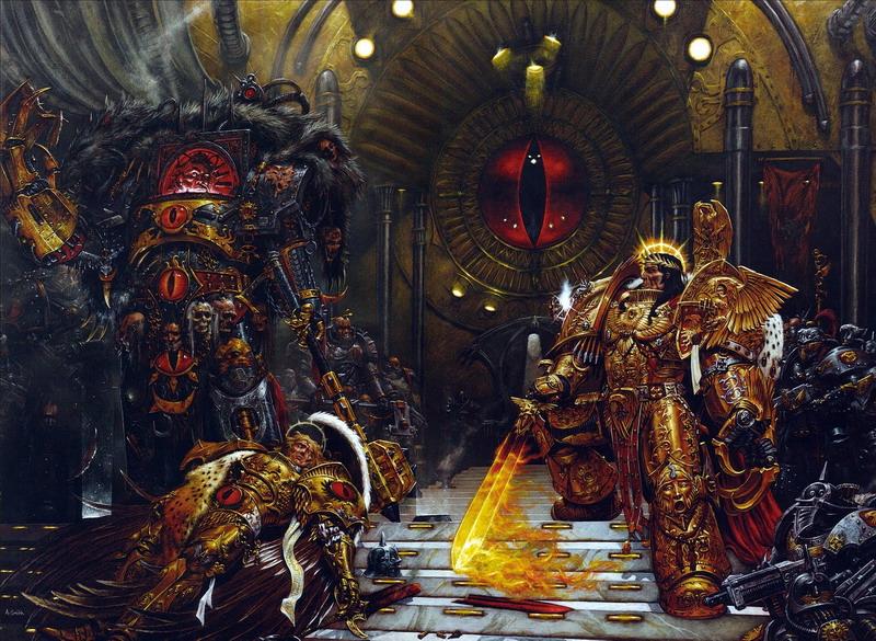 http://wh40k.lexicanum.com/mediawiki/images/d/dd/Horus_vs_The_Emperor.jpg
